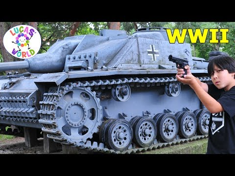 WWII in Action German vs Russian Tanks | Lucas World Family Fun Vacation
