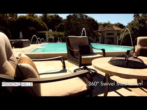 Allison 5-piece Swivel Fire Chat Set By Mission Hills