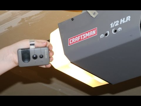 How To Program Craftsman Garage Door Opener Remote Diy 1 2 Hp And Others Youtube