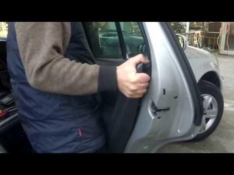 Снятие обивки задней двери ML 270 W 163