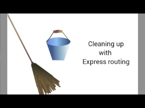 4 - Cleaning Up With Express Routing
