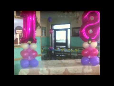 Decorazioni Sala Per 18 Anni : Decorazioni balloonart bova m anni youtube