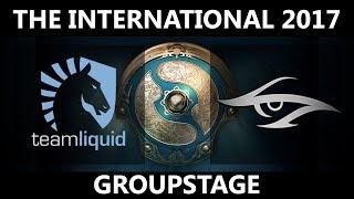 Team Liquid vs Team Secret GAME 1, The International 2017, Secret vs Liquid