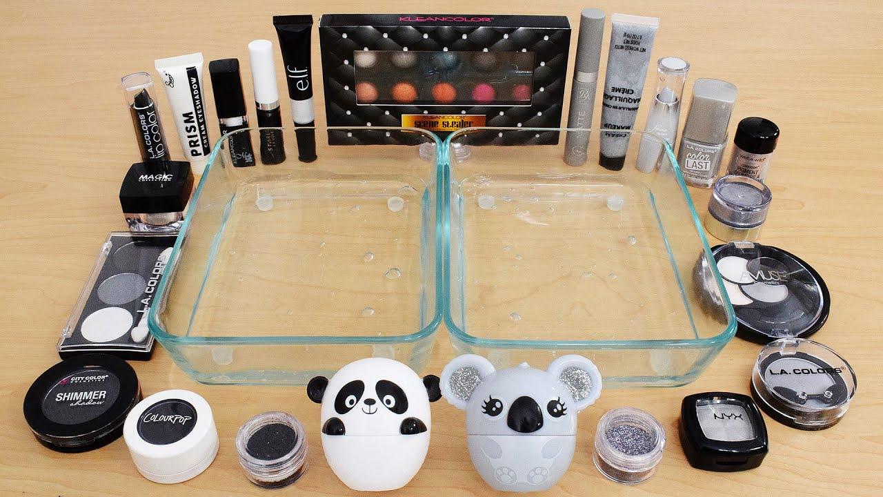 Download Panda vs Koala - Mixing Makeup Eyeshadow Into Slime ASMR 302 Satisfying Slime Video