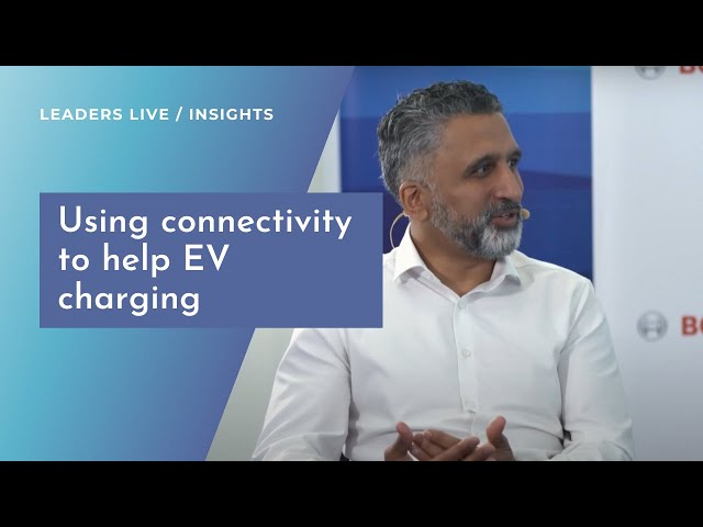 Using connectivity to help EV drivers access charging | Leaders LIVE Insights