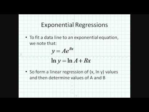Linear And Exponential Regressions