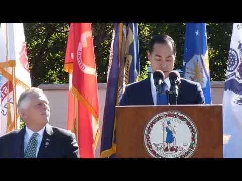 Sec. Julian Castro Veteran's Day Address