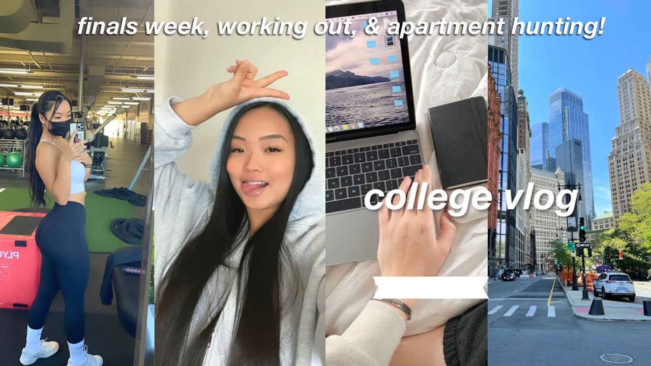 COLLEGE VLOG | finals, working out, & NYC apartment hunting!