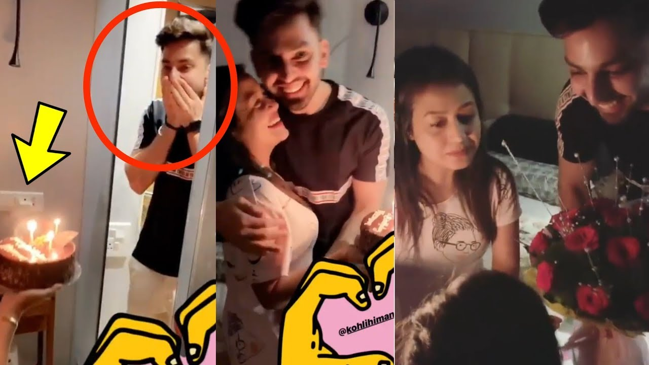 Aw Singer Neha Kakkar Surprises Bf Himansh Kohli On His Birthday With Cake And Party Youtube