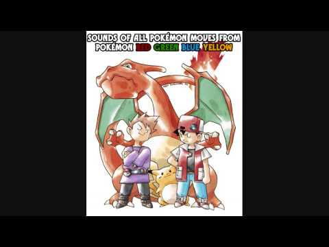 Sounds Of All Pokémon Moves From Pokémon Red/Green/Blue/Yellow