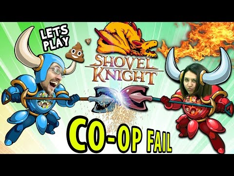 FGTEEV Mom & Dad play SHOVEL KNIGHT 1!  a CoOp Fail? Amiibo Dig Race Unboxing Challenge