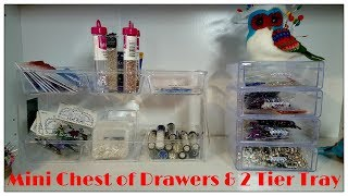 Super easy idea with a few Dollar Tree storage trays. The small drawers are hard to find but the idea does inspire the use of different