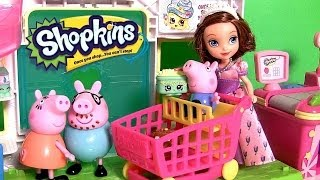 Supermercado Shopkins com a Porquinha Peppa Pig a Princesa Sofia the First Disney Supermarket
