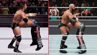 WWE 2K19 vs SVR 2007 - 25 Finisher Comparisons (Which are better?)