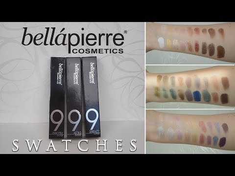 Bellapierre Cosmetics | Mineral Shimmer Powder 9-Stack | Astrid, Pandera, Serenity | Swatches