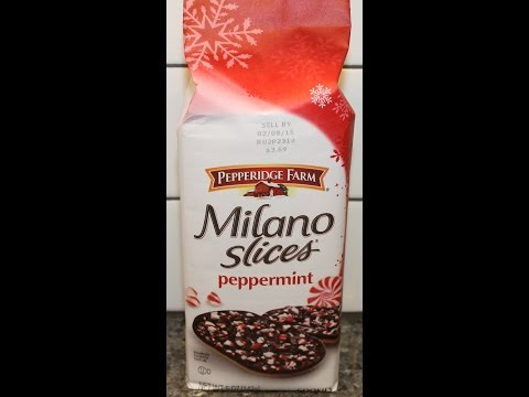 Pepperidge Farm Milano Slices Peppermint Review