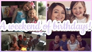 A WEEKEND OF BIRTHDAYS! | FAMILY VLOG #13| My Happy Ever After