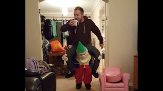 Dad Walks Around House in Gnome Costume