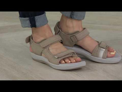 Clarks Cloud Steppers Adjustable Sport Sandals - Brizo Sammie On QVC
