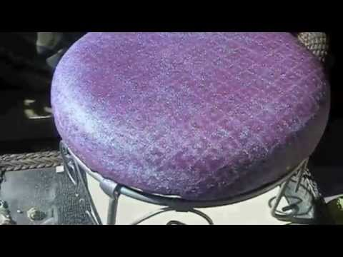 DIY How To SPRAY PAINT A Fabric, Glitter, Make Waterproof   YouTube