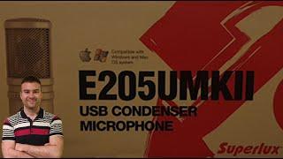 Superlux E205u MkII Unboxing és teszt