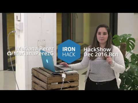 2016 Ironhack Coding Bootcamp Graduation - MARIANA - HackShow 2016 Barcelona