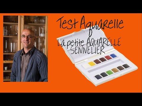 Test la petite aquarelle Sennelier