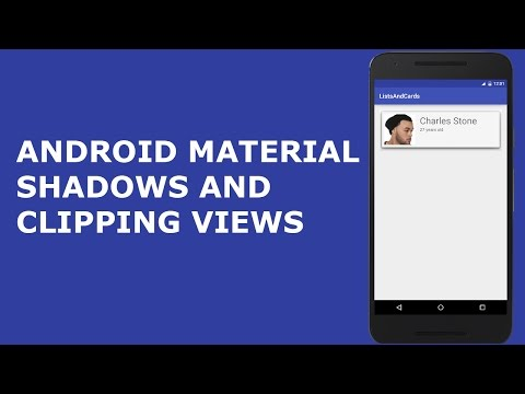 ANDROID MATERIAL SHADOWS AND CLIPPING VIEWS