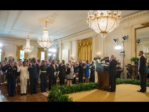 The President Speaks at a Naturalization Ceremony