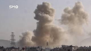 (فيديو) 30 صاروخا تستهدف حي القابون قرب دمشق