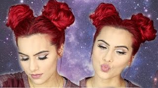 SPACE BUNS/DOUBLE BUNS hair tutorial