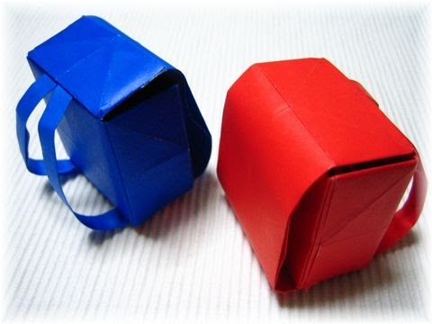 easy origami schoolbag origami origami tutorial youtube