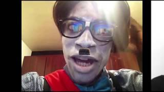 "Gazi Kodzo ""Happy Halloween White People"" likes 'white-face' I like the mustache"