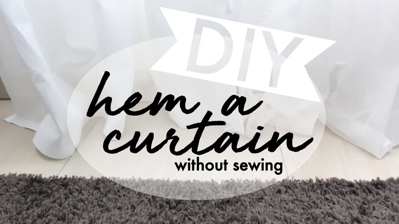 how to hem a curtain without sewing ikea hack - How To Hem Curtains