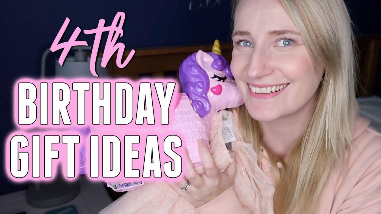 4 Year Old Birthday Present Haul 4th Birthday Gift Ideas Girls Youtube