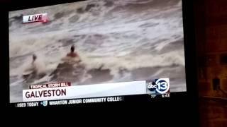 Tropical Storm Bill - Galveston Seawall