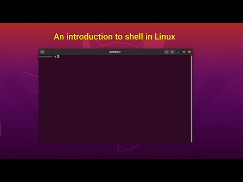 An introduction to shell in GNU-Linux.