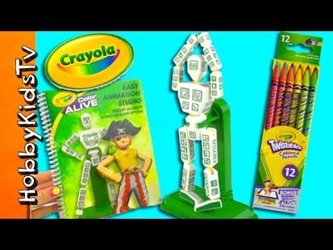 Animate Robots with Crayola! Easy Animation Studio Review by HobbyKidsTV