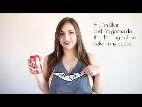 Hold a Coke with your Boobs Challenge - Blue Diamond