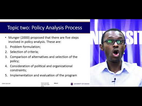 PAHS 318: Public Administration - Session 7: - Public Policy Analysis