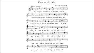 Khúc Ca Bốn Mùa | Bài 6 | Lớp 7 | Có Lời | ALIN MUSIC SCHOOL