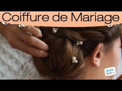 coiffure un chignon 2 en 1 pour un mariage youtube. Black Bedroom Furniture Sets. Home Design Ideas