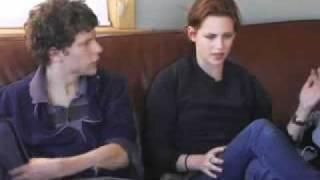 Kristen Stewart & Jesse Eisenberg - Adventureland Interview Part 1