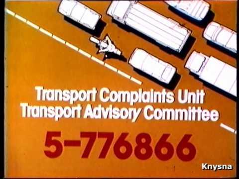 1985 - Transport Department (Transport Complaints Unit)