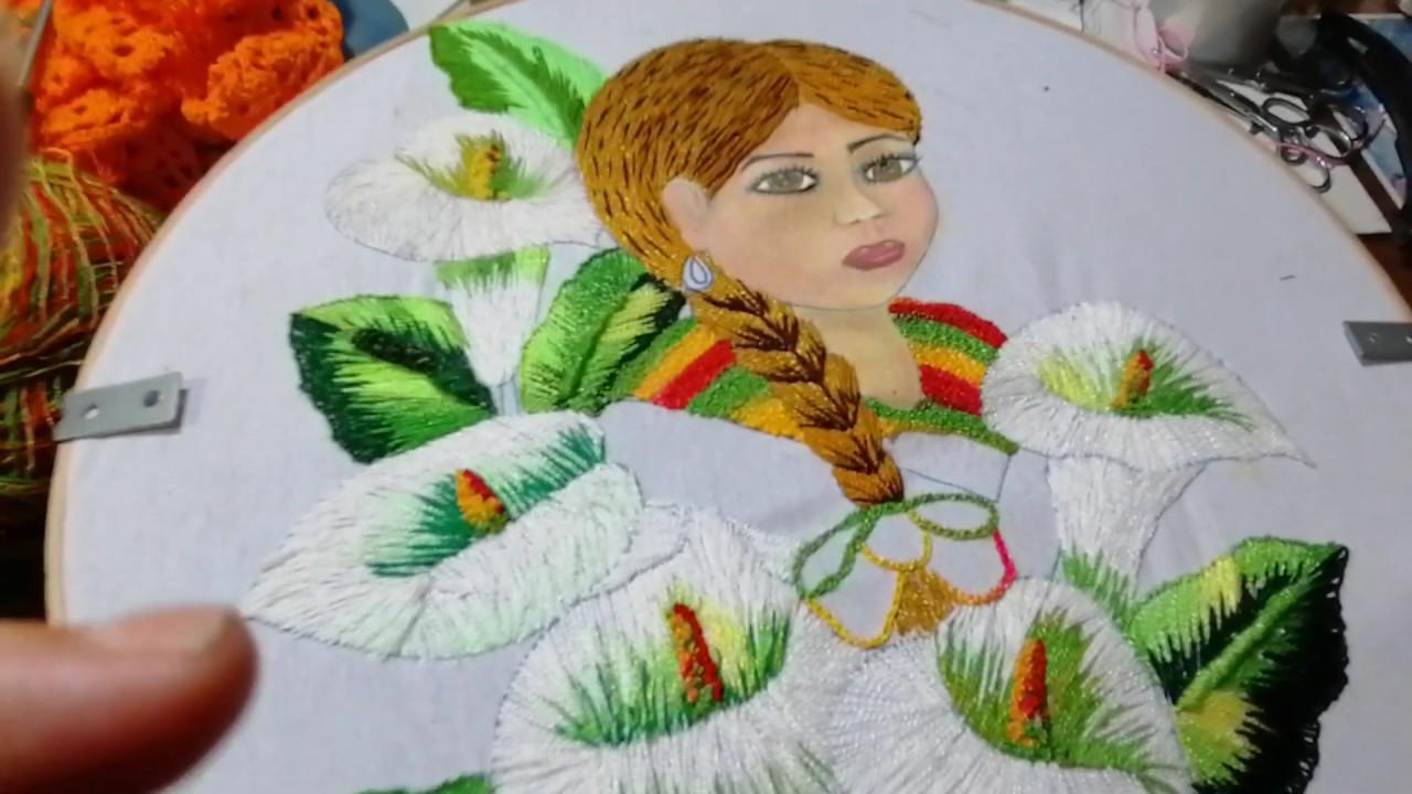 Cómo bordo la blusa de mi muñeca de alcatraces 4a. P. Sonia R.A.