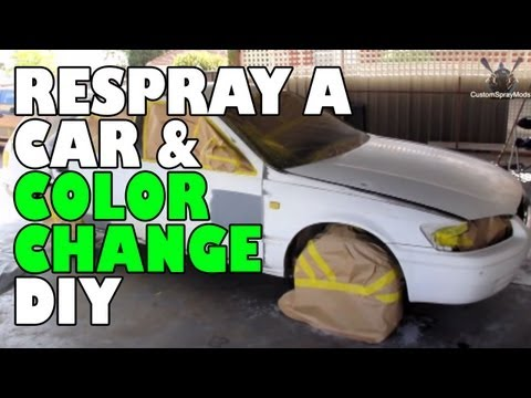 Respray a car and color change DIY