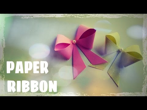 Paper Bow Tutorial - Origami Easy