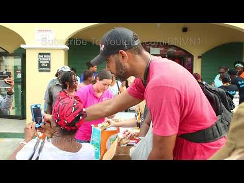 US Virgin Island Recovery Efforts, Tim Duncan helping out - 9/15/2017