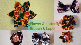 HOW TO MAKE FLOWER/ BUTTËRFLY BROOCH & LAPEL (PART 1)