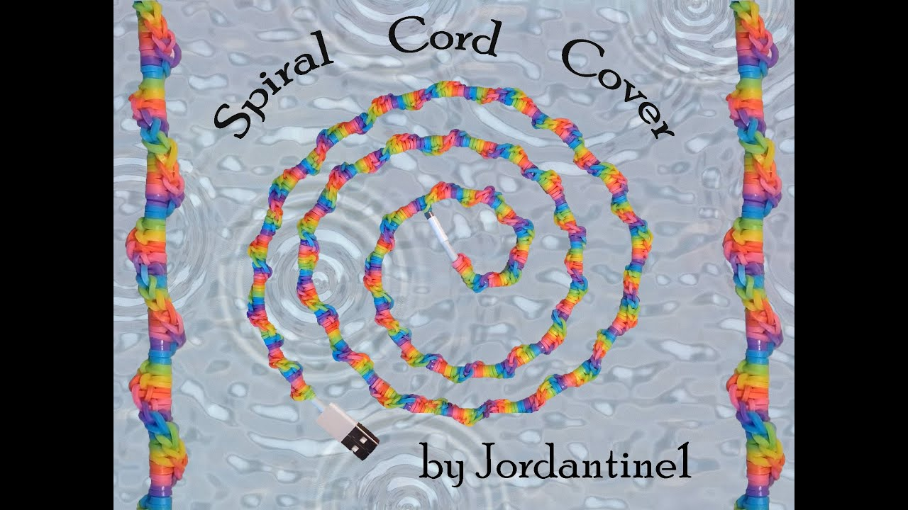 New Spiral Cord Cover - Hook Only / Loomless -Rainbow Loom - Easy ...